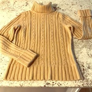 Women's EXPRESS Gold turtleneck sweater. Size L
